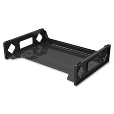 "Letter tray, 13""w x 2-3/4""h x 9""d, black, sold as 1 each"
