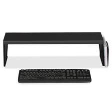 """Heavy-duty desk shelf, 6.75""""x7""""x25.63"""", black, sold as 1 each"""