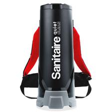 Backpack vac, quietclean, hepa filter, 10 qt cap, black, sold as 1 each