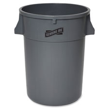 "Trash container, heavy duty, 44 gal, 31.5""x24""x24"", gray, sold as 1 each"
