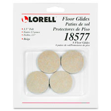 "Felt floor glides, 1"", 24/cd, beige, sold as 1 carat"
