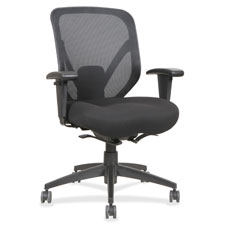 """Mid back chair, 28-1/8""""x22-7/8""""x41-3/4"""", black, sold as 1 each"""