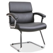 """Guest chair, 35-3/8""""x26-1/8""""x35"""", leather/black, sold as 1 each"""