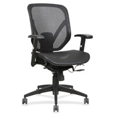 """Mid back chair, 27""""x25-5/8""""x42-1/2"""", black, sold as 1 each"""