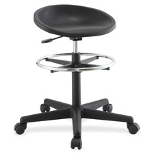 """Height adjustable stool, 24-1/4""""x24-1/4""""x28-1/2"""", black, sold as 1 each"""