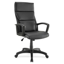 "Hi-back exec chair, 27-1/4""x28-1/4""x47-1/2"", black, sold as 1 each"