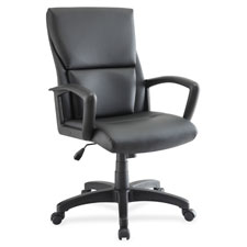 """Midback exec chair, 27-1/4""""x28-1/4""""x47-1/2"""", black, sold as 1 each"""