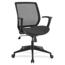 "Mesh/mesh exec chair, 27-1/2""x26-1/4""x39-3/4"", bk, sold as 1 each"