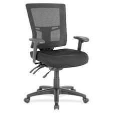 "Midback mesh chair, 25-3/8""x25-3/8""x40"", black, sold as 1 each"