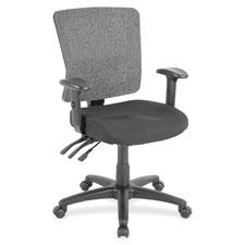 "Low back mesh chair, 27""x26""x40"", black/gray, sold as 1 each"