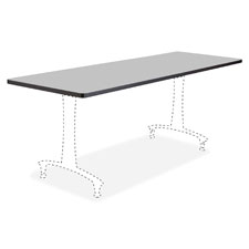 "Fixed t-leg table, 60"" x 24"", gray, sold as 1 each"