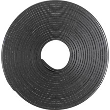 "Magnetic tape roll, adh, 1.5mm, 1/2""x10', black, sold as 1 each"