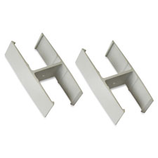 "Straight pane connector, 20/st, 1-1/2""x2-5/8""x1-3/8"", am, sold as 1 set"