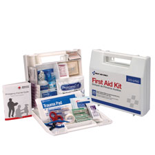 Bulk first aid kit, 107 piece, white, sold as 1 each