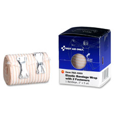 "Elastic bandage wrap, 2-fastners, 2""x5yd, tan, sold as 1 box, 10 each per box"