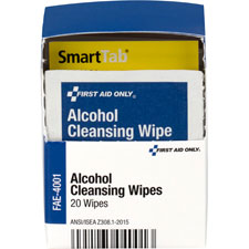 Alcohol cleansing pads, 20/bx, white, sold as 1 box, 10 each per box