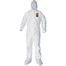Liquid/particle protection coveralls, lrg, 25/ct, white, sold as 1 carton, 25 each per carton