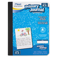 "Primary journal, composition, 100 sht, 7.5""x9.8"", ast, sold as 1 each"