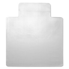 "Economy chairmat, wide lip 25""x12"", low pile, 45""x53"", clear, sold as 1 each"