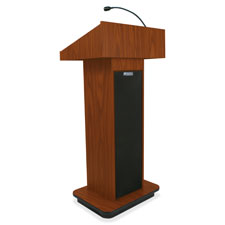 "Executive sound, column lectern, 43""x21""x15"", mok, sold as 1 each"