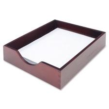 Hardwood desk tray, ltr, mahogany, sold as 1 each