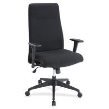 High back suspension chair, tilt control, black, sold as 1 each