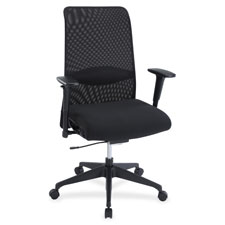 High back suspension chair, weight control tilt, black, sold as 1 each