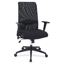 High back suspension chair, mesh back, black, sold as 1 each