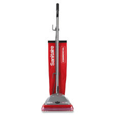"Upright vacuum, 50' cord, lg bag, 8.5""x15""x20.5"", red/silver, sold as 1 each"