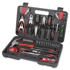 Tool kit, w/ storage carrying case, 72pc,, sold as 1 each