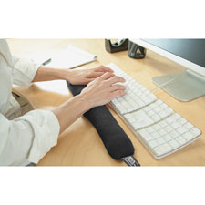 Keyboard wrist cushion, w/egro beads, black, sold as 1 each
