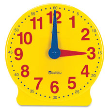 "Learning clock,big time, 13-1/4""h, gr k-4, multi, sold as 1 each"