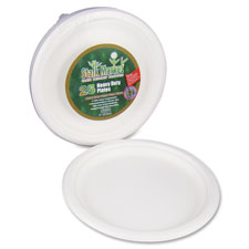 "Compostable plates, 9"", 300/ct, white, sold as 1 carton, 12 package per carton"