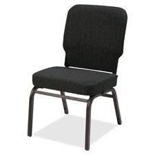 """Oversize stack chair, 500lb cap, 21""""x25""""x35-1/2"""", black f, sold as 1 carton, 2 each per carton"""