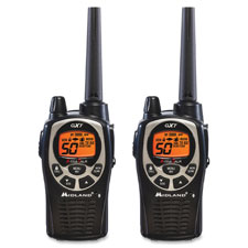 Two-way radios, pair, 36mi range, black, sold as 1 each