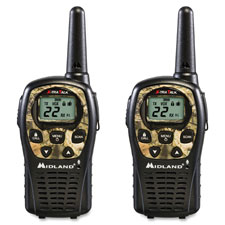 Two-way radios, pair, 24mi range, camouflage, sold as 1 each