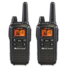 Two-way radios, pair, 24mi range, black, sold as 1 each