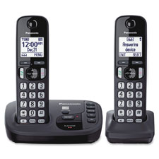 Digital cordless answering sys, expandable, 2 handsets, sr, sold as 1 each