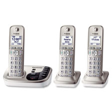 Digital cordless answering sys, expandable, 3 handsets, sr, sold as 1 each