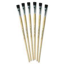 """Tempera brush set, 1/2"""" w, 6/st, natural, sold as 1 set"""
