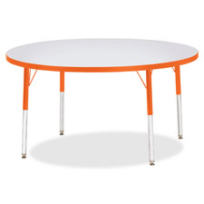 """Activity table, round, 24""""-31""""x42"""", yellow, sold as 1 each"""