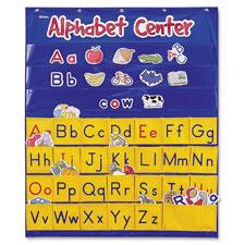 "Alphabet center pocket chart, 28""x34"", multi, sold as 1 each"
