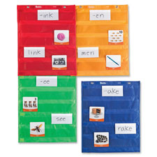 Magnetic pocket chart squares, set of 4, multi, sold as 1 each