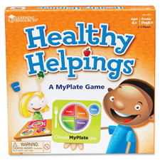 "Healthy helpings, myplate game, 9""x8-1/2"", multi, sold as 1 each"