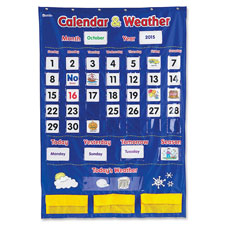 "Calendar/weather pocket chart, 30-3/4""x44-1/4"", multi, sold as 1 each"