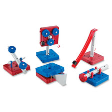Simple machines set, 63 pcs, 5/st, multi, sold as 1 set, 12 each per set