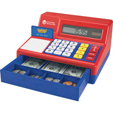 Pretend/play calulator cash register, 71pcs, multi, sold as 1 each