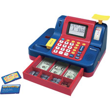 "Teaching cash register, 13""x9-1/2""x8"", multi, sold as 1 each, 3 each per each"