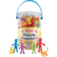 All about me family counters, 72/pk, multi, sold as 1 package