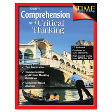 Comprehension and critical thinking book, w/cd, grade 4, sold as 1 each